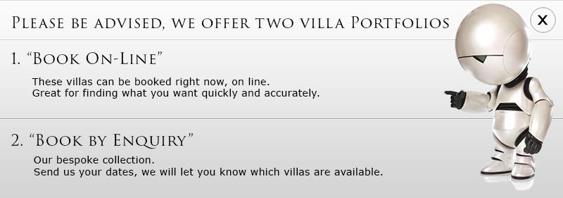 We offer two villa portfolios